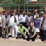 Gruppenfoto der Leipziger Delegation im Zoo von Addis Abeba
