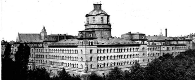 Fotografie des landesherrlichen Schlosses Pleißenburg um 1880 - heute Standort des Neuen Rathauses