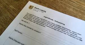 Ein Foto des Antragsformulars für den Jugendfonds.