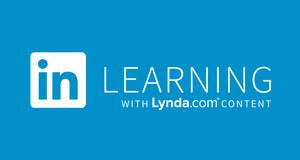 """weißer Schriftzug """"in Learning"""" auf blauem Hintergrund"""