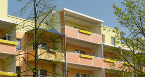 Grünau Fassade Terrassenhaus
