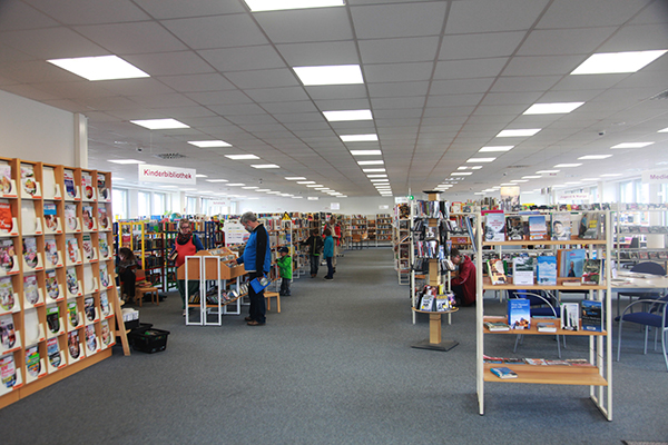 Bibliothek Gohlis - Blick in die Bibliothek