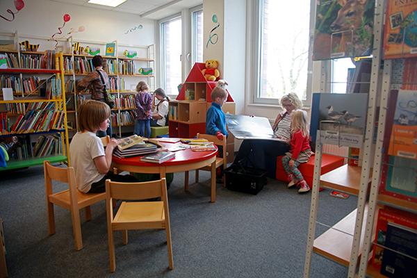 Bibliothek Gohlis - Sitzecke in der Kinderbibliothek
