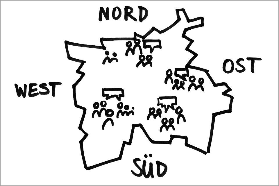 Leipzig 2030 Diskussionen im Stadtraum