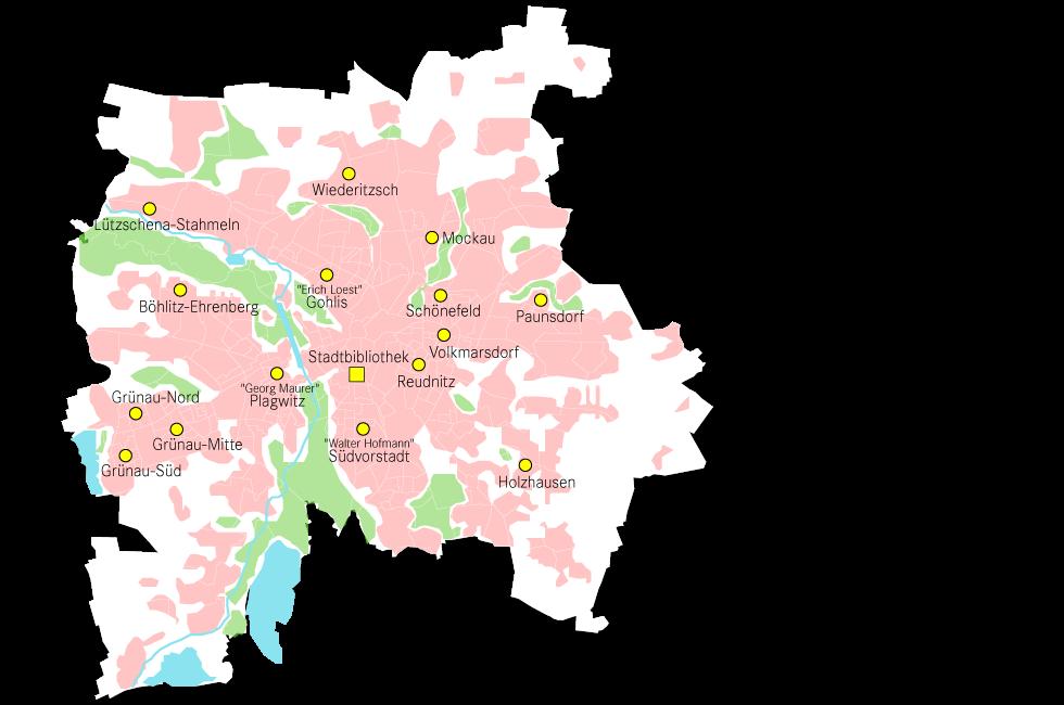 Karte Stadtteilbibliotheken